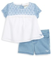 Roxy Infant Girl's Britton Gauze Top & Shorts Set