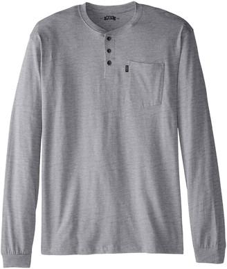 Key Apparel Men's Big-Tall Heavyweight 3-Button Long Sleeve Henley Pocket T- Shirt