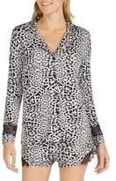 Betsey Johnson Laced Animal Print Pajamas