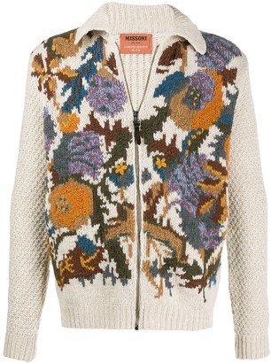 Missoni Crocheted Zip-Up Cardigan