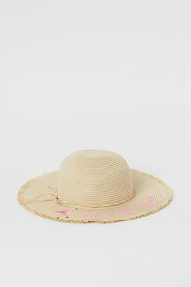 H&M Motif straw hat