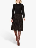 Oasis Jumper Spot Dress, Black/Multi