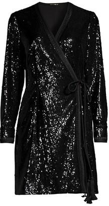 Kobi Halperin Addison Sequin Wrap Dress