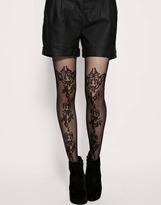 Asos Pattern Sheer Tights - Black
