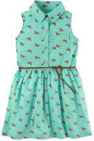 Carter's Horse-Print Belted Shirtdress, Toddler Girls (2T-4T)