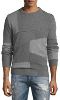 Diesel K-Imonia Patchwork Sweater, Gray
