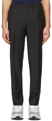 Harmony Black Wool and Mohair Paolo Trousers