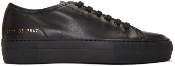Common Projects Woman By Woman by Black Tournament Low Super Sneakers