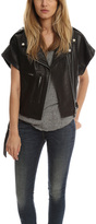 R 13 Amurai Leather Moto Vest