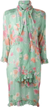 Christian Dior Pre-Owned Scarf Floral Print Dress