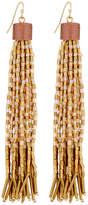 Lydell NYC Ombré Tassel Bead Drop Earrings