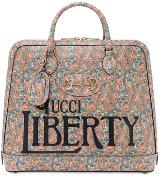 Gucci Liberty Printed Leather Duffle Bag