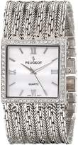 Peugeot Women's J1931S Analog Display Japanese Quartz Silver Watch