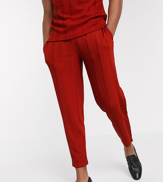Asos Design DESIGN Tall co-ord tapered joggers in fancy rib fabric with fixed hem