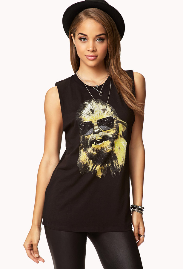 Forever 21 ChewbaccaTM Muscle Tee