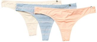 Lucky Brand Lace Trim Thong - Pack of 3