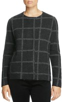 Eileen Fisher Windowpane Merino Wool Jacket