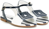 Dolce & Gabbana star sandals - kids - Calf Leather/Leather/rubber - 29