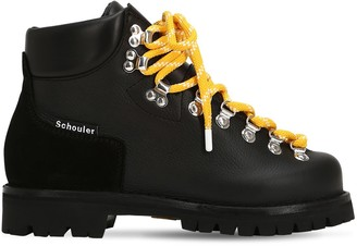 Proenza Schouler 30mm Leather Trekking Ankle Boots