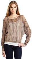 BCBGMAXAZRIA Women's Camille Dolman Cropped Sweater