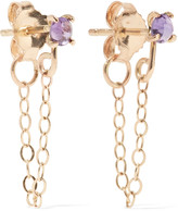 Melissa Joy Manning Gold-tone crystal earrings