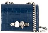 Alexander McQueen Knuckle Duster crocodile-effect shoulder bag