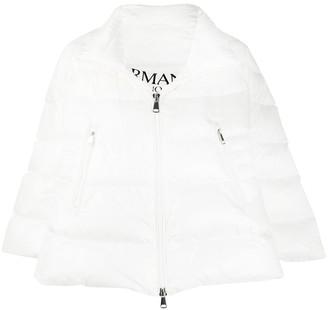 Ermanno Ermanno Asymmetric Hem Puffer Jacket