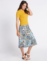 Marks and Spencer Paisley Floral Print A-Line Midi Skirt