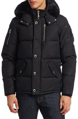 Moose Knuckles 3Q Fox Fur-Trim Puffer Jacket