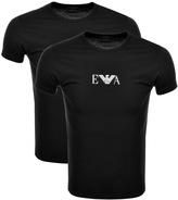 Giorgio Armani Emporio 2 Pack Crew Neck T Shirts Black