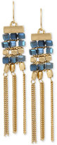 Kenneth Cole New York Gold-Tone Beaded Fringe Drop Earrings