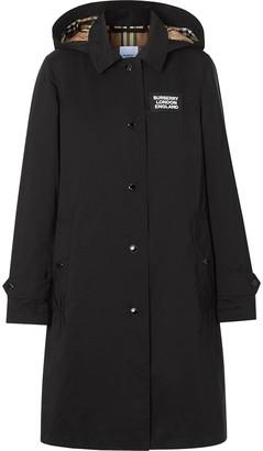 Burberry detachable hood car coat