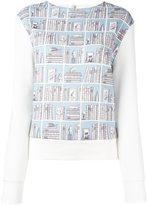 Olympia Le-Tan library print sweatshirt