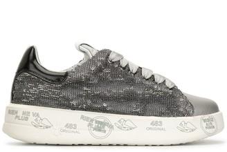 Premiata sequinned flatform sneakers