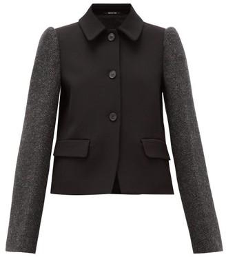Maison Margiela Single-breasted Panelled Technical-twill Jacket - Black Multi