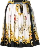 Versace baroque pleated mini skirt