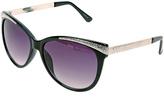Big Buddha Black & Silver Cat-Eye Sunglasses