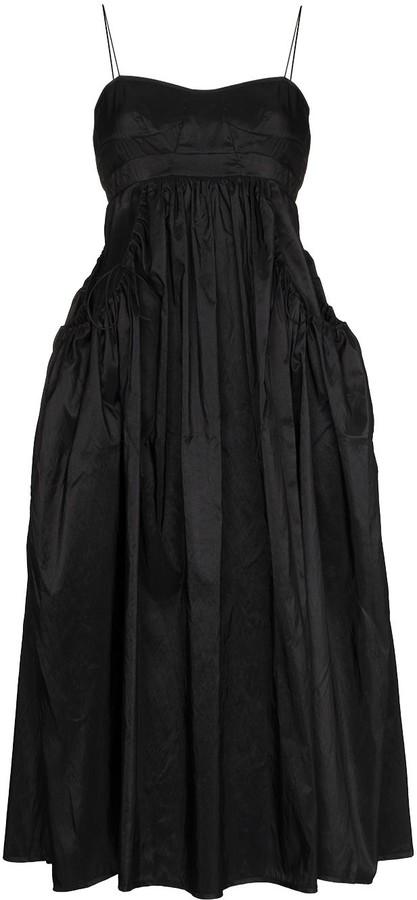 Cecilie Bahnsen Cameron sleeveless flared midi dress