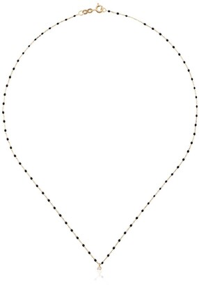 Gigi Clozeau 18kt yellow gold Classic Gigi diamond moon necklace