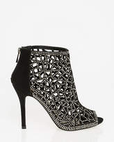 Le Château Jewelled Suede-Like Cage Shootie