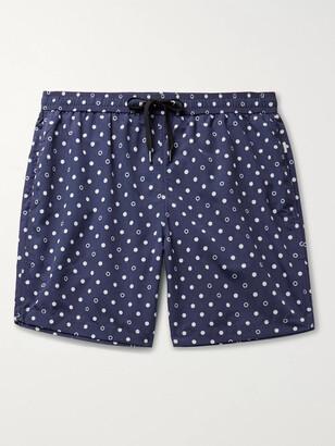 Onia Charles Short-Length Polka-Dot Swim Shorts - Men - Blue