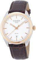 Tissot Men's Quartz Stainless Steel Casual Watch, Color:Brown (Model: T1014102603100)