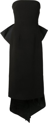 Rebecca Vallance Bow-Detail Strapless Dress