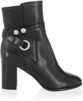 Isabel Marant Ashes Leather Ankle Boots - Black