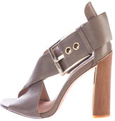 Rachel Zoe Leather Crossover Sandals