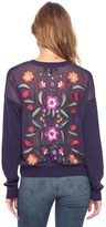 Juicy Couture Embroidered Back Cardigan