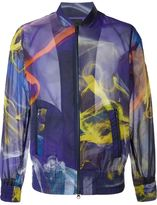 Y-3 printed bomber jacket - men - Polyamide - L
