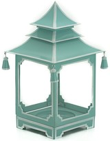 The Well Appointed House Parisian Blue and White Medium Pagoda Candleholder