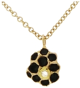 Jamie Joseph Small Artisan Black and Gold Honeycomb Necklace with Bee