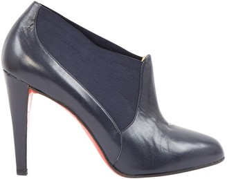 Christian Louboutin \N Navy Leather Ankle boots